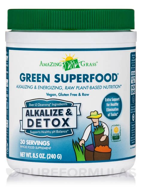 Detox Powder by Green Superfood 174 Alkalize Detox Powder 30 Servings 8