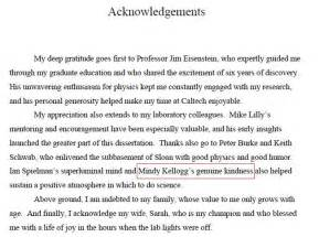 Acknowledgement Letter Thesis Sample Pics Photos Thesis Acknowledgement Help