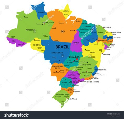 political map brazil brazil political map 28 images vector political map of