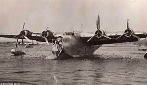 japanese flying boat ww2 wwii sunderland flying boat raised from seabed 65ft below