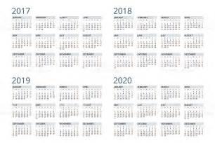 Calendar 2018 And 2019 And 2020 Calendar For 2017 2018 2019 2020 Stock Vector