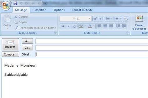 Modele Email cr 233 er un mod 232 le d email outlook