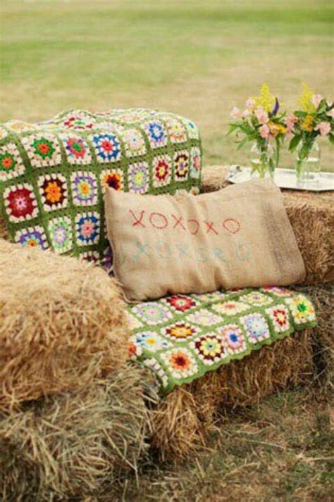 straw bale couch great idea hay bale seating for cookouts parties and