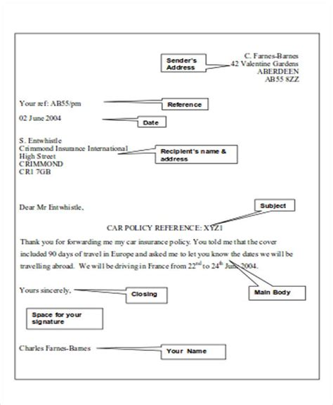 business letter format layout sle business letter layout 8 exles in word pdf