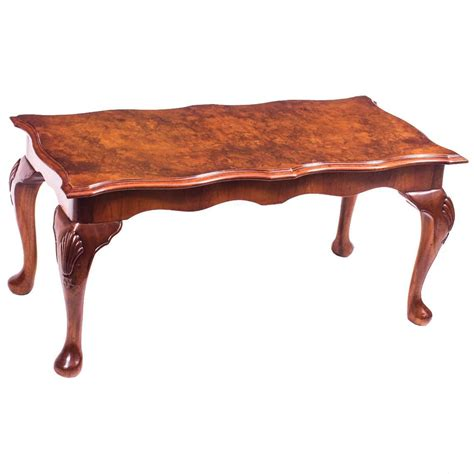 queen anne coffee table vintage burr walnut queen anne style coffee table mid
