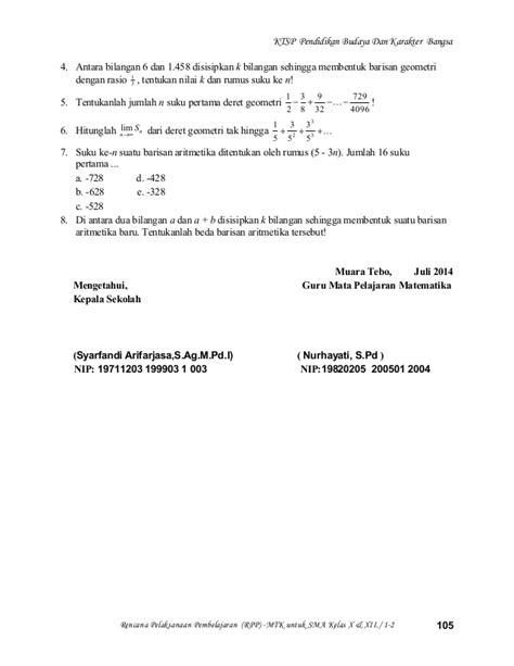 Matematika Kelas 3b Sma Semester 2 rpp matematika kelas xii ipa semester 2 nurhayati sma 3