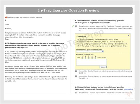 Report Writing Exercises by In Tray Exercise Practice Tips Exles Jobtestprep