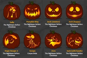 Nightmare Before Pumpkin Template by Skellington Pumpkin Stencil Pumpkins