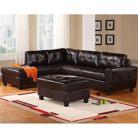Global Furniture Usa 5190 2 Piece Leather Sectional In