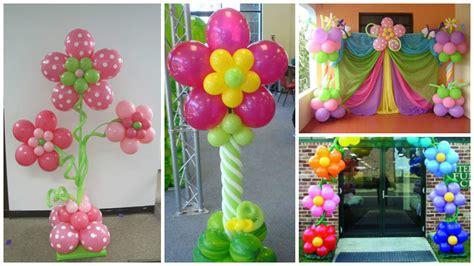tutorial para decorar con globos aprende c 243 mo hacer columnas de flores con globos para