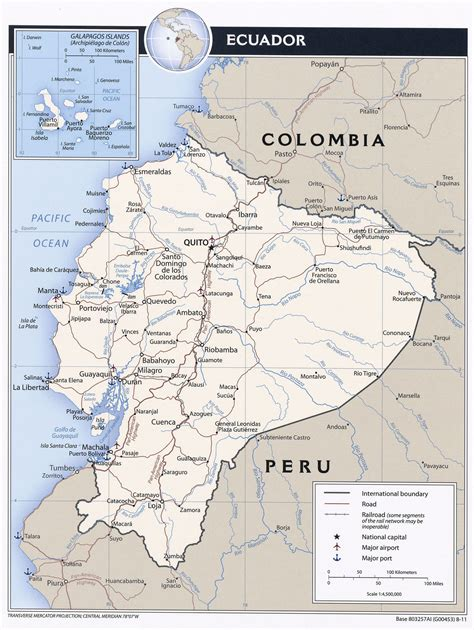 map of us cities with major airports large detailed political map of ecuador with roads major