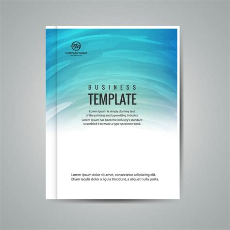 Business Booklet Template Vector Free Download Book Of Business Template