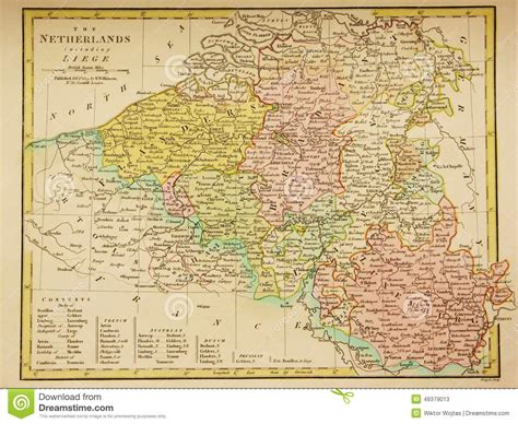 belgium and luxembourg map antique map of belgium and luxembourg editorial stock