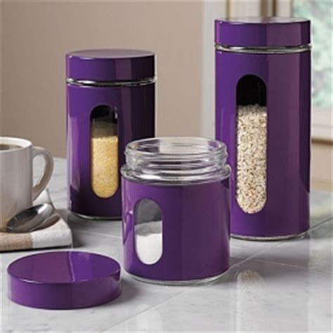 what to put in kitchen canisters purple canisters home pinterest almonds the o jays