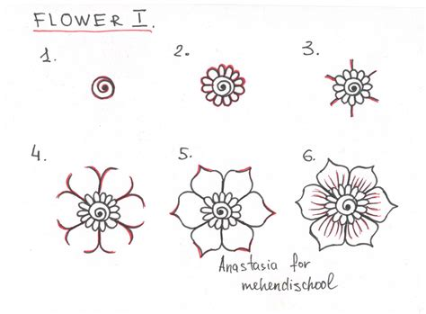 simple drawing patterns how to draw a beautiful and smooth mehndi flower small