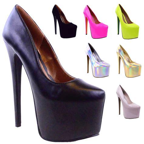high heels stiletto 7 inch womens black platform 7 inch high heel stiletto