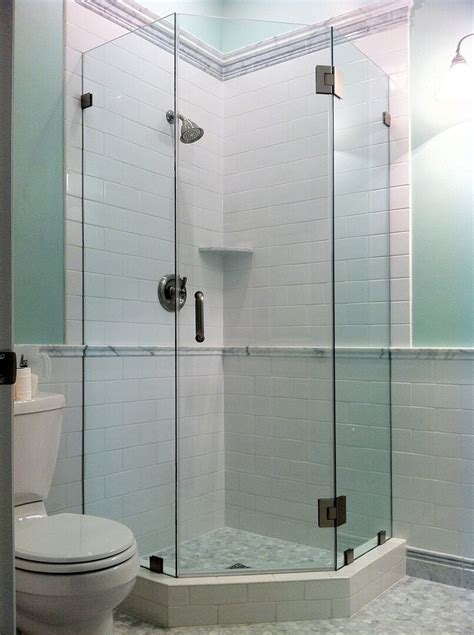 Angled Glass Shower Doors Frameless Neo Angle Shower Enclosures