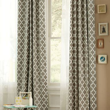 pottery barn teen drapes geometric curtains heelsandhome