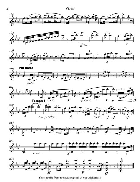 beethoven symphony no 5 symphony no 5 ii andante con moto toplayalong