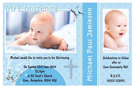 Pinterest Free Christening Invitation Template For Baby Boy