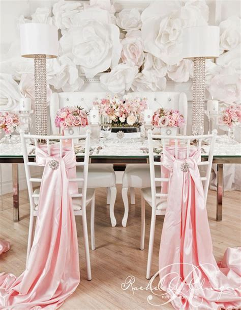 Silver Wedding Chair Decorating Ideas   Blush Pink Wedding