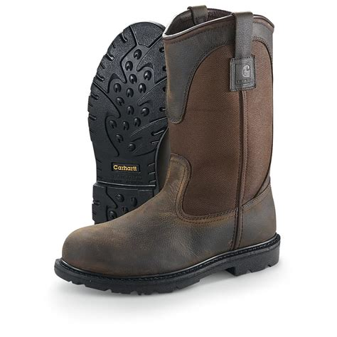 pull on work boots s 10 quot 3711 carhartt 174 waterproof pull on work boots