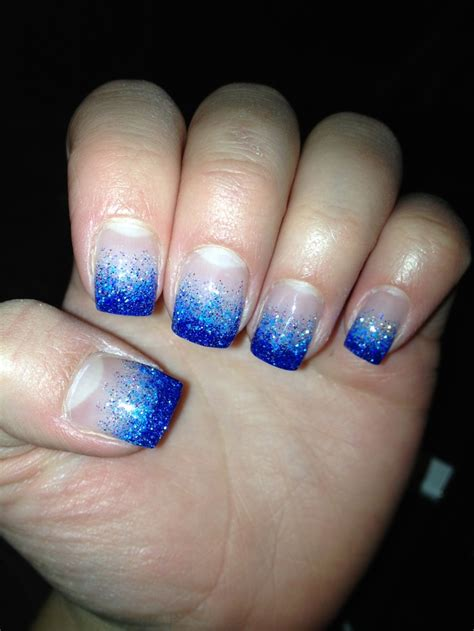 nail light for gel nails dark and light blue glitter gel nails nails pinterest