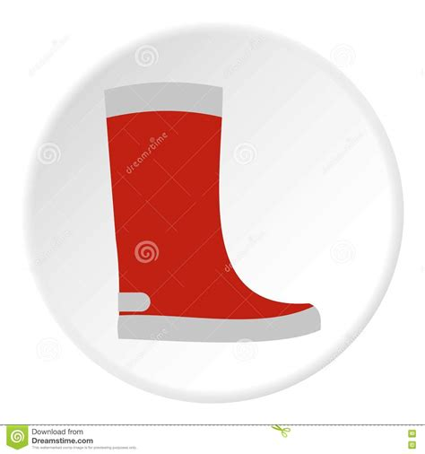 rubber boot icon red rubber boot icon flat style stock vector