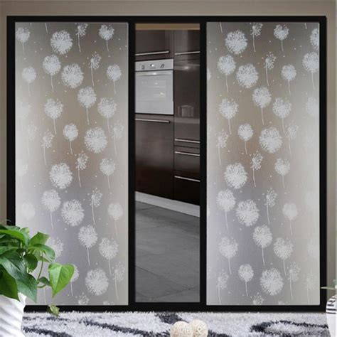 window film bathroom 2m length waterproof dandelion frosted privacy home
