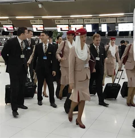 emirates cabin crew emirates cabin crew walking at suvarnabhumi airport