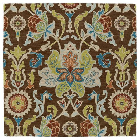 10 X 10 Ft Square Rug - kaleen taj chocolate 10 ft x 10 ft square area rug taj02