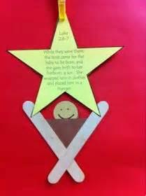 popsicle manger craft ornament ideas for kids pinterest