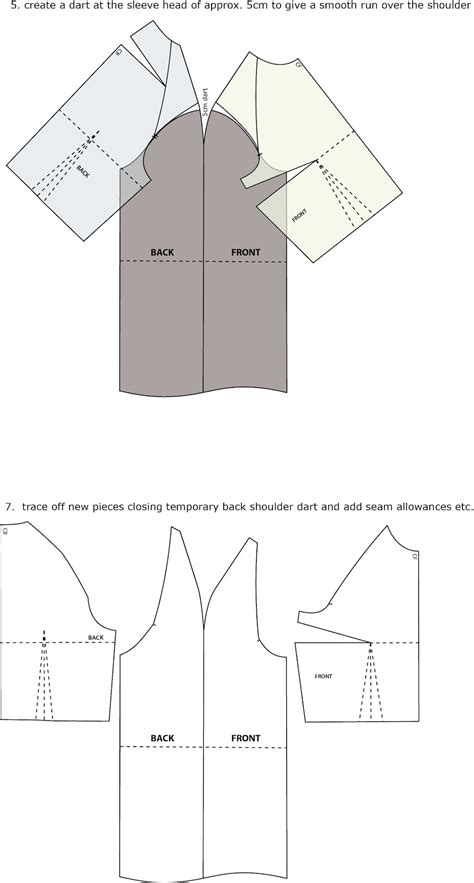 Pattern Making Raglan Sleeve | introduction to pattern cutting raglan sleeve