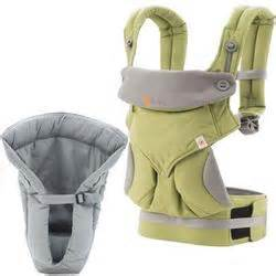 Ergo Baby Four Position Green ergo baby 4 position 360 carrier with grey infant insert