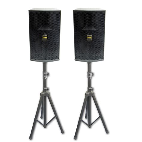 Tripod Speaker Bmb bmb csp 3000 high power 10 quot speaker package with stands