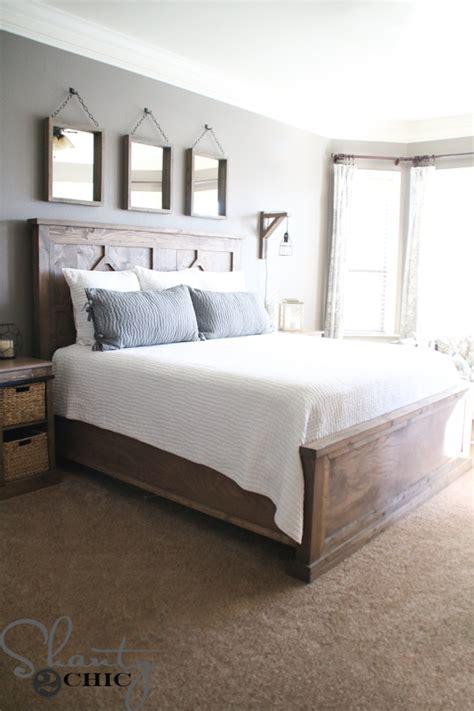 diy king bed diy rustic modern king bed shanty 2 chic