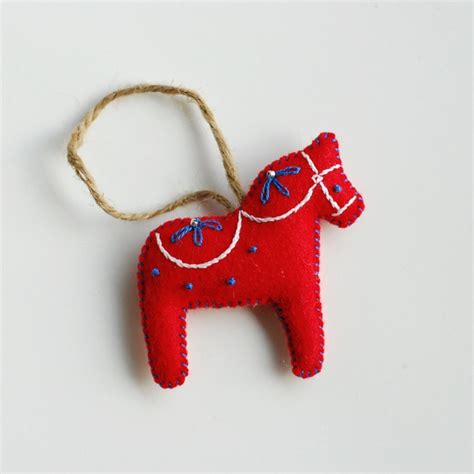 traditional swedish christmas ornaments dala ornament traditional swedish made from wool felt with cotton thread