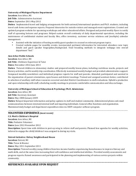 michigan resume resume ideas
