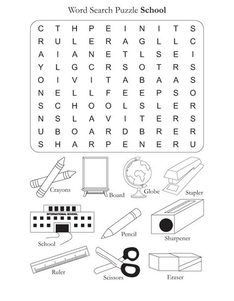 Search For By School Word Search Puzzle School Free Word Search Puzzle School For Best