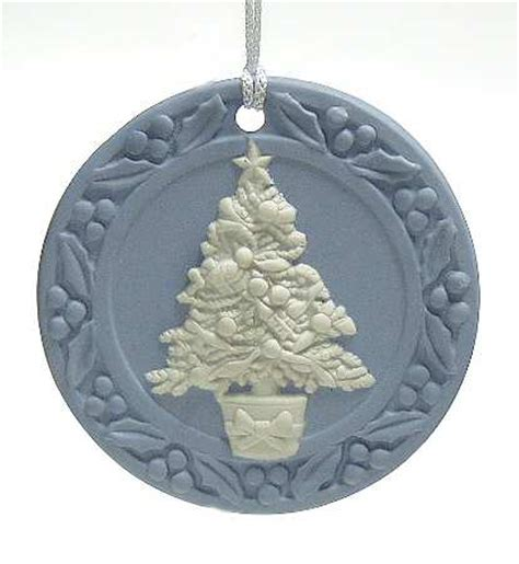wedgwood jasperware christmas ornament tree 1988 82003 ebay