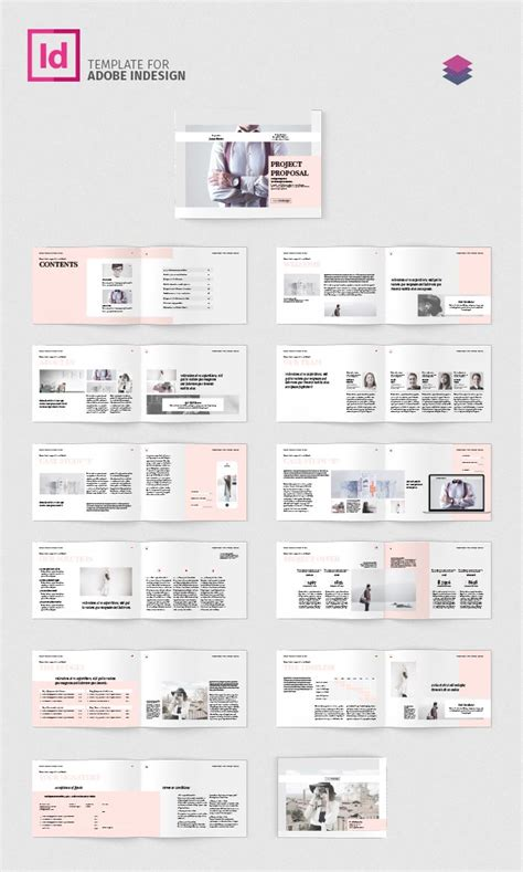 Project Proposal Landscape Adobe Indesign Templates Indesign Landscape Template