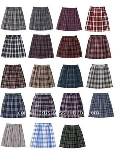 pattern japanese school uniform school uniform check pleated skirt brown and pink check