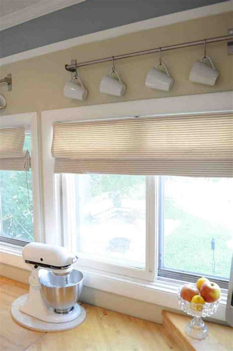diy kitchen window treatments studio design gallery