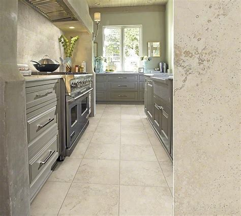 update your kitchen with grey cabinets and beautify your floors with tile in style quot summerwind
