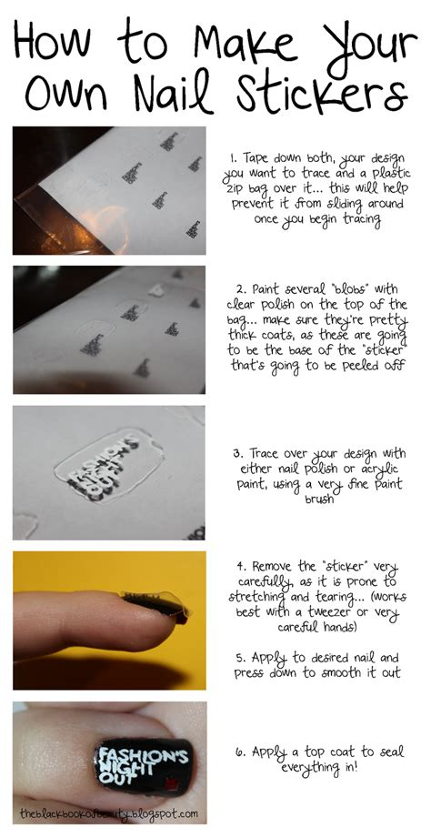 How To Make Your Own Nail Stickers black book of how to make your own nail stickers