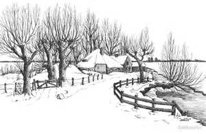 River Home Decor quot winter in holland pen drawing quot by rainbowart redbubble