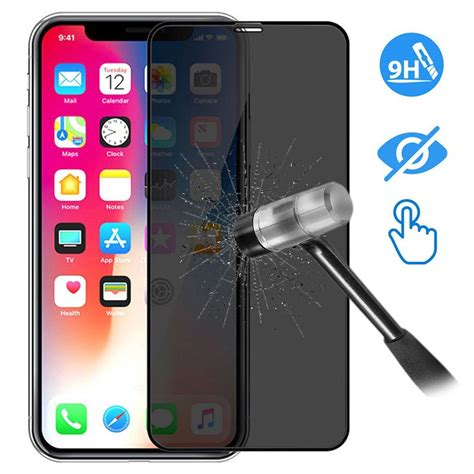 devia  full glass privacy iphone xs max screen protector