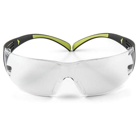 safety goggles with fan 3m securefit 400 black neon green with clear anti fog