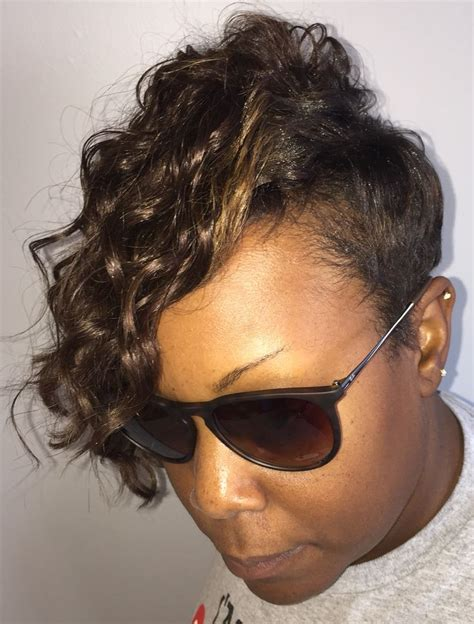 Flawless Hair Men On Pinterest 118 Pins | partial sew in with low sides and tapered neck line