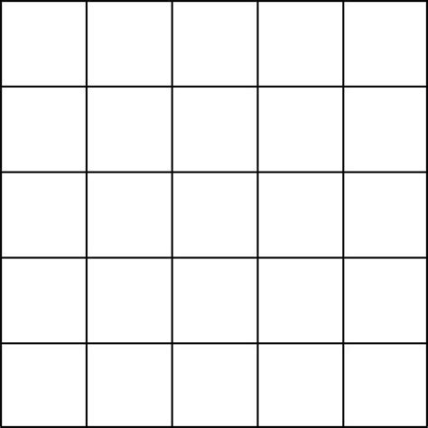 Blank Grid Paper 5 Squares Math Forum Alejandre Magic Square 5x5 Grid Preschool Math Bingo Card Template 5x5
